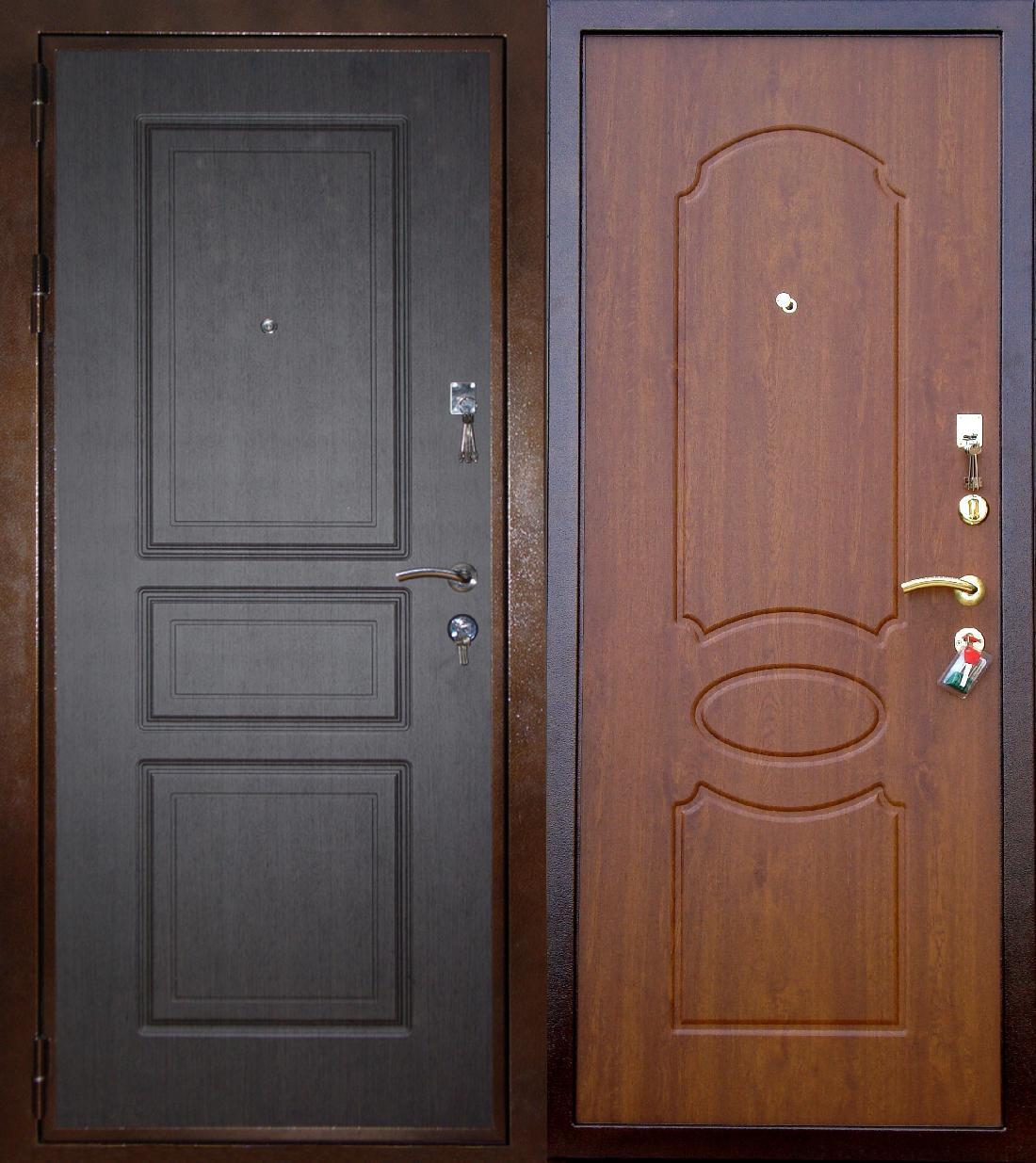двери входные металлические 3 х листовые